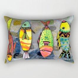 Tribal Fish Rectangular Pillow