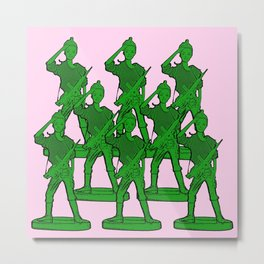 Barbie Army! Funny Barbie Pop Art! Metal Print