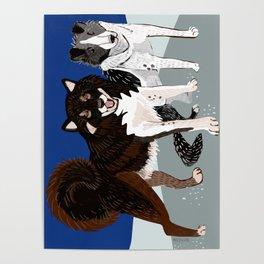 Karafuto Ken - Sakhalin husky Poster