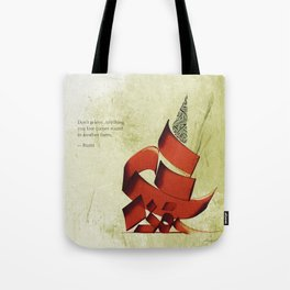 Arabic Calligraphy - Rumi - Another Form Tote Bag