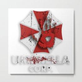 Resident Evil Umbrella Corporation - Nerdy Shirts Videogame Metal Print