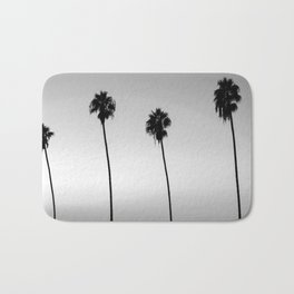 Black and White San Diego Palms - California Bath Mat
