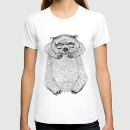 Wombat with glasses T-shirt