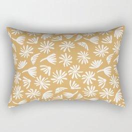 Daisies Mustard Rectangular Pillow