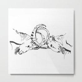 Headbutt Metal Print