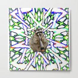 Raccoon Spliff Metal Print