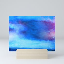 Moody blue cloud Mini Art Print