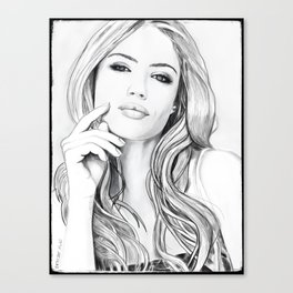 Xenia Tchoumitcheva Portrait of an angel with a frame Canvas Print