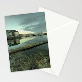 Aberystwyth harbour twylight Stationery Cards