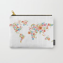 Watercolor Flower World Carry-All Pouch