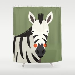 Zebra, Animal Portrait Shower Curtain