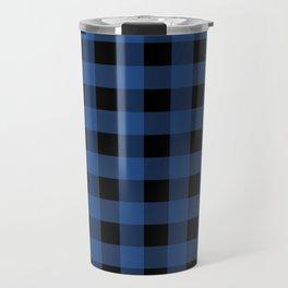 Buffalo Plaid Blue Black Lumberjack Pattern Travel Mug