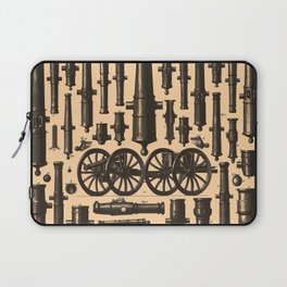 Vintage Cannon & Artillery Diagrams (1907) Laptop Sleeve