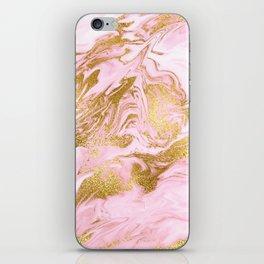 Rose Gold Mermaid Marble iPhone Skin