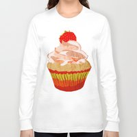 cupcakes Long Sleeve T-shirts featuring Cupcakes by Alexandra Baker
