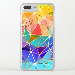 Rainbow geometric #9 Clear iPhone Case