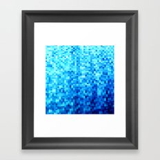 Blue Mosaic Framed Art Print