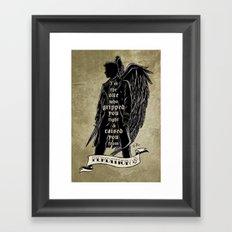 Perdition // Castiel (Supernatural) Framed Art Print