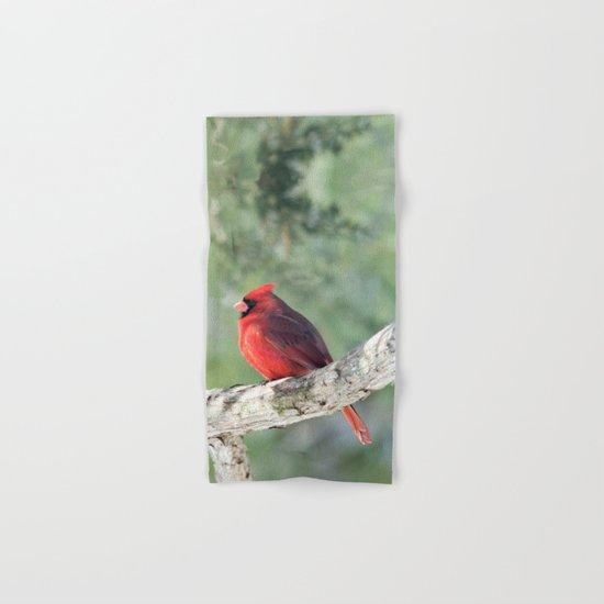 Serene Cardinal Hand & Bath Towel