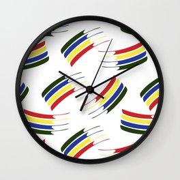 Postmodern Primary Splash Wall Clock