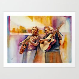 Musician Series I:  Bobby & Jerry 'Coustic Art Print