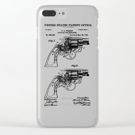 Smith And Wesson Revolver Patent 1894 Clear iPhone Case