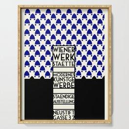 Wiener Werkstaette retro vintage artwork expo Serving Tray