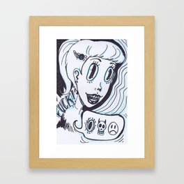 devil dame Framed Art Print