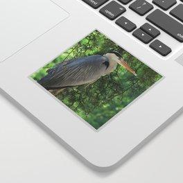 Grey heron (Ardea Cinerea) amongst trees Sticker