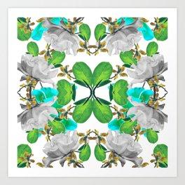 Abstract Nature Print Art Print