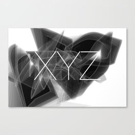 Typographic treatment of letters XYZ. Dark Math XYZ. Canvas Print