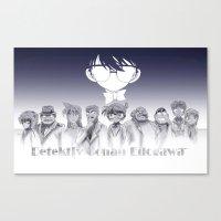 conan Canvas Prints featuring Dedectiv Conan Edogawa by DevilianArts