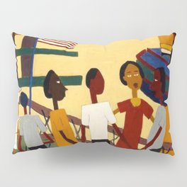 African American Masterpiece 'Ferry' NYC by William Johnson Pillow Sham