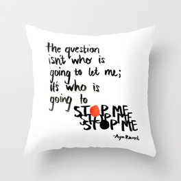 stop me Throw Pillow