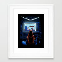 8bit Framed Art Prints featuring 8bit Who by Bamboota