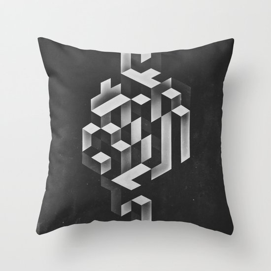 isyhyrrt gryy Throw Pillow