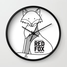 Red Fox, Wildlife of America Wall Clock