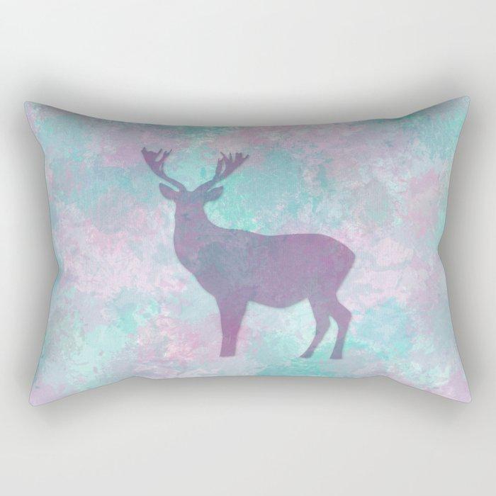 Deer Silhouette Rectangular Pillow
