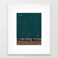 finding nemo Framed Art Prints featuring Forever Finding Nemo by Matt Bacon