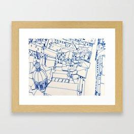 Bologna from above - outline Framed Art Print