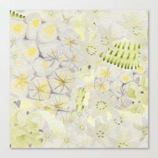 Lemon Abstract Canvas Print