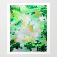 monet Art Prints featuring Monet by acrylikate