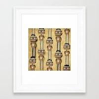 robots Framed Art Prints featuring Robots  by Ruth Fitta Schulz