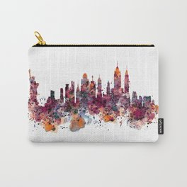 New York Skyline Silhouette Carry-All Pouch