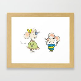 Two friends of... mice Framed Art Print