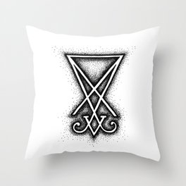 Sigil Of Lucifer Throw Pillow