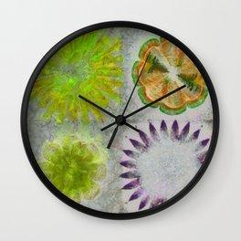 Caudocephalad Imagination Flower  ID:16165-011823-84320 Wall Clock