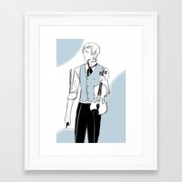 violin Framed Art Prints featuring Violin by Cassandra Jean