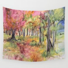 Autumn Woodlands Wall Tapestry