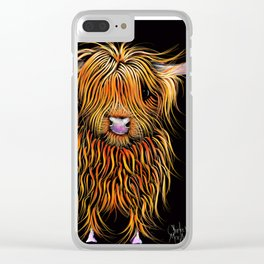 HiGHLaND CoW PRiNT SCoTTiSH ' HuMPHReY ' BY SHiRLeY MacARTHuR Clear iPhone Case